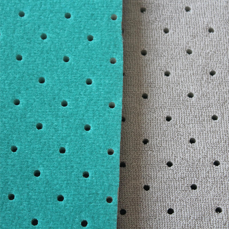 Foam Bonded Perforated Or Hole Terry Towel Fabric