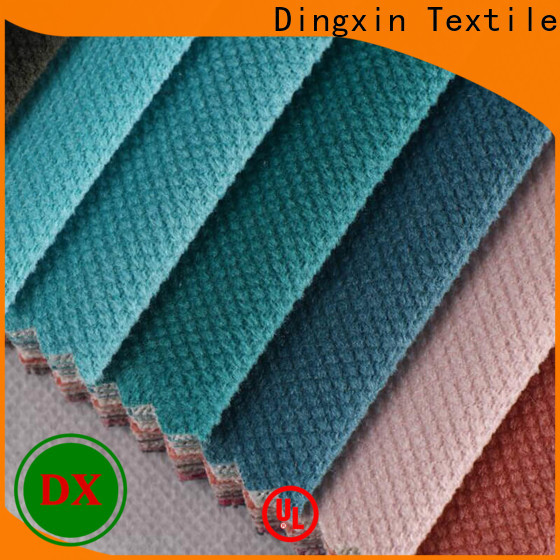 Dingxin Best aqua blue velvet fabric for business for sofa