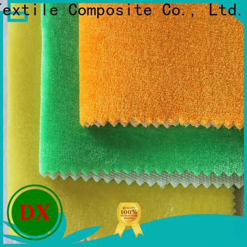 Dingxin velvet apparel fabric manufacturers for seat cover