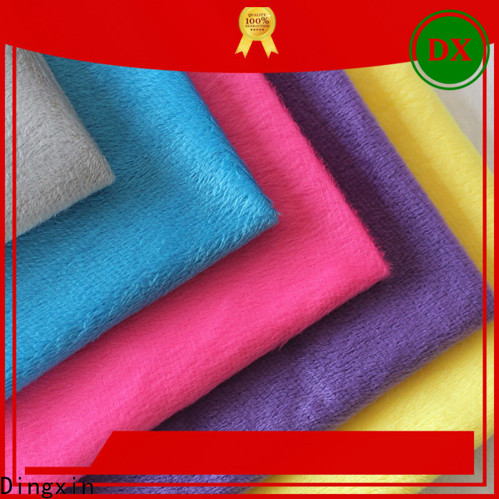 Dingxin velvet material to buy Supply for making home textile