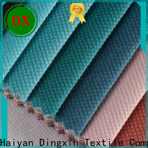 Dingxin Latest charcoal velvet upholstery fabric company for seat cover