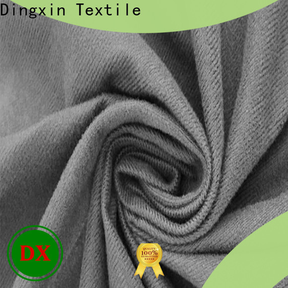 Dingxin New red velour material manufacturers used to make sofa cushion