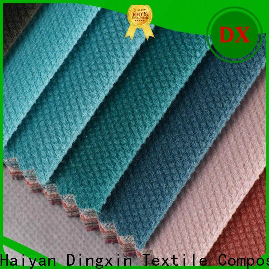 Dingxin crushed pink velvet fabric for business for seat cover
